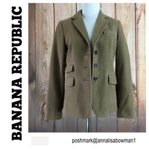 🐞Banana Republic Blazer with elbow patches size 2